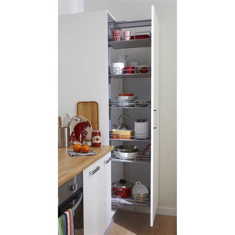 meuble cuisine coulissant rangement coulissant colonne 6 paniers pour colonne l 60