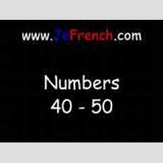 Learn French Numbers 4050