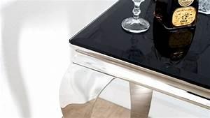 Console Baroque Noire : console baroque rectangulaire chrom e et verre noir zita gdegdesign ~ Teatrodelosmanantiales.com Idées de Décoration