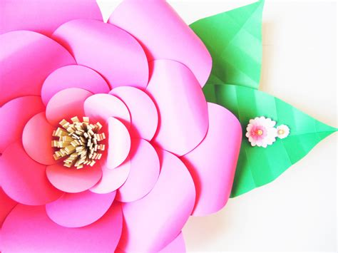 large paper flower how to make large paper flowers easy diy paper flower