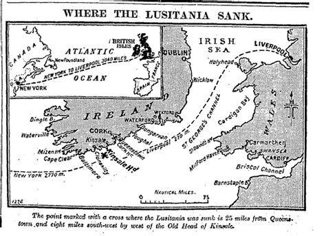 when did lusitania sink the sinking of the lusitania from the perspective of the