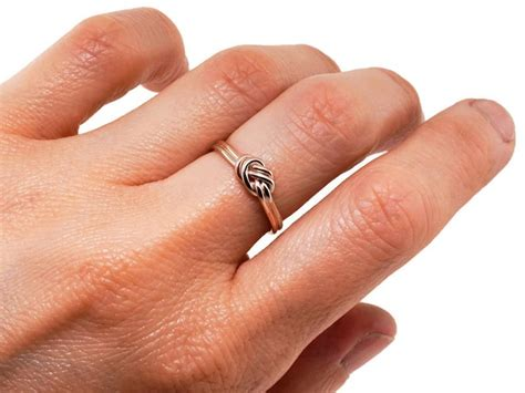 nautical engagement ring solid gold nautical knot engagement ring thick