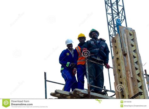 African Construction Workers Editorial Stock Photo Image