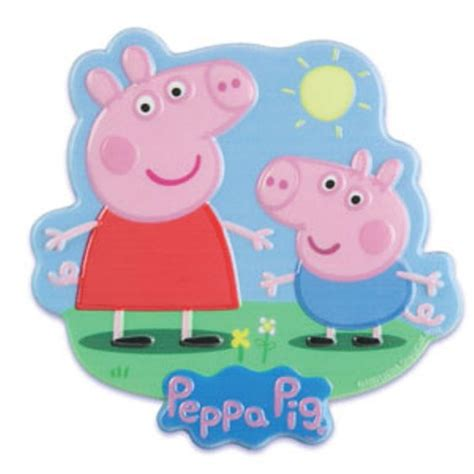 peppa pig and george cake topper plaque bling your cake