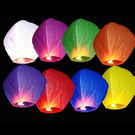 acheter des lanternes volantes lot de 10 x lanterne volante tha 239 landaise 1m coloris assortis