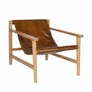 Fauteuil Cuir Et Bois : fauteuil en bois et cuir sling par ~ Teatrodelosmanantiales.com Idées de Décoration