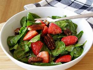 maple•spice: Baby Spinach Salad with Strawberries, Maple ...
