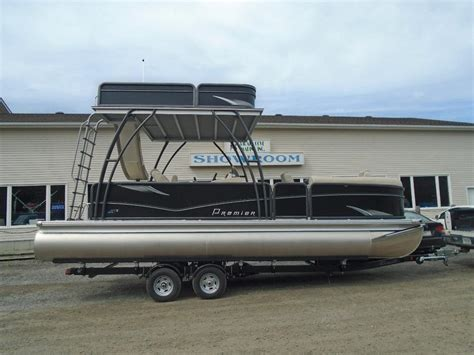 Used Pontoon Boats With Upper Deck For Sale by Premier 2016 240 Sunsation Upper Deck For Sale Outside
