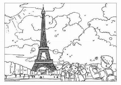 Eiffel Tower Paris Colouring Coloring France Activity