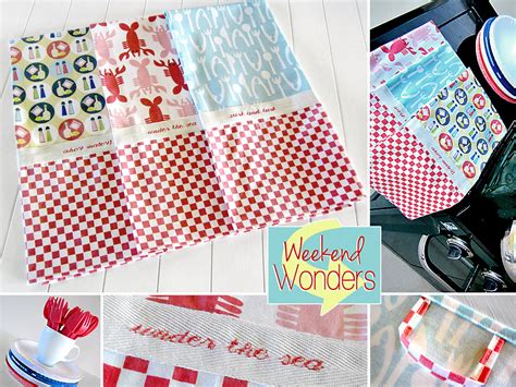 Kitchen Towel Fabric by Weekend Wonders With Fabric Crabtastic Kitchen Towels