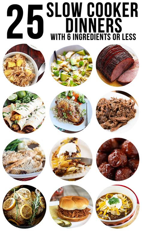 cooker slow dinner dinners meals ingredients less recipes crockpot delicious easy meal mother daughter plan lmld weekly chicken these perfect