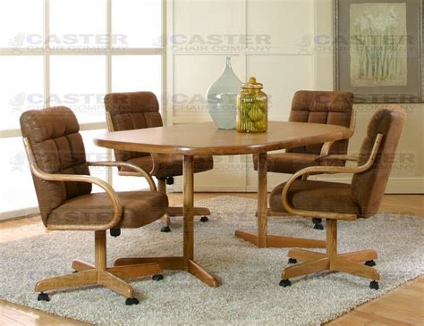 caster chair company  piece caster dining set  swivel