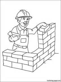 printable builder or construction worker coloring page from our - Construction Worker Coloring Page