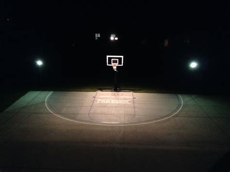 there are night lights surrounding pro dunk gold