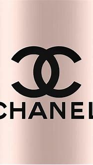 Black with Rose Gold Tapestry - Textile by Classic Chanel Logo