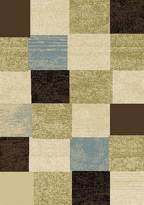contemporary geometric multicolor  area rug modern