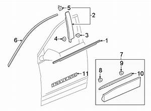 Chevrolet Traverse Door Belt Molding  Black