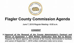 County Administrator Craig Coffey's Consent Problem ...