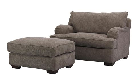 klaussner vaughn chair and a half and matching ottoman