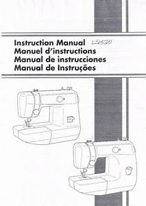 Brother Ls1520 Ls2125i Vx1435 Sewing Machine User Guide
