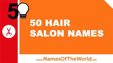 Hair Dresser Names