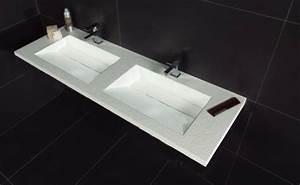 Double Vasque 140 Cm : vasques largeur 140 plan double vasques suspendue ou encastrer largeur 140 cm en r sine ~ Melissatoandfro.com Idées de Décoration
