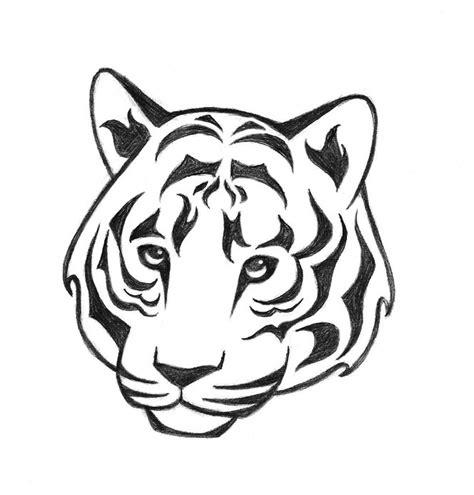 drawn tigres simple pencil   color drawn tigres simple