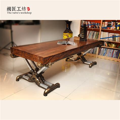 wood and iron desk aliexpress com buy american retro industrial wood old