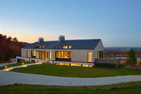 contemporary interpretation traditional home inspired long house typology