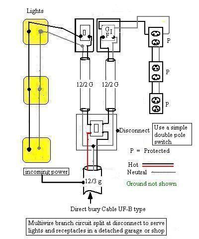 underground wiring  house  garage electrical diy