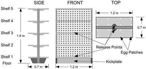 Diagram Of Gondola Shelving Unit Showing Four X Four