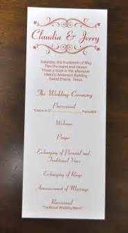 wedding bulletins templates sle wedding programs march 2011