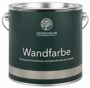 Gut Deckende Wandfarbe : wandfarben von lignocolor nat rlich handgefertigt ~ Watch28wear.com Haus und Dekorationen