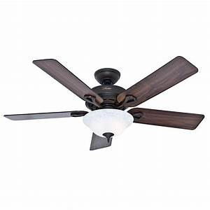 Hunter kensington in indoor bronze ceiling fan with