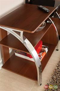 """Layla 58"""" Polished Chrome And Cherry TV Stand With TV"""