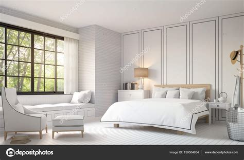 Schlafzimmer Vintage Modern by Modern Vintage Bedroom With Black And White 3d Rendering