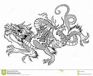 Japanese dragon stock vector. Illustration of strong ...