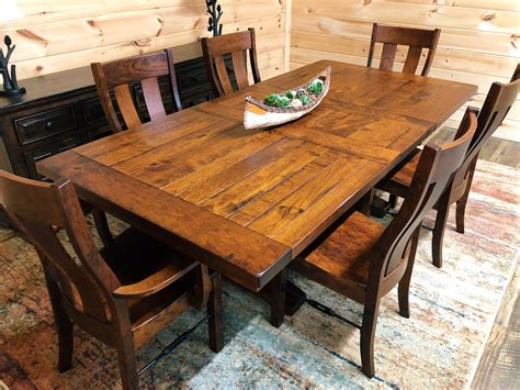 Dining Table by Bayfield Cherry Amish Dining Table Mountain Top Furniture