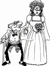 Image result for pictures of cartoon santa marrying a young bride