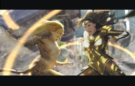 Bridesmaids star wiig will take on a rare villainous turn in wonder woman 1984, which has been delayed due to the coronavirus pandemic. ArtStation - Wonder woman vs Cheetah, Tiago Datrinti