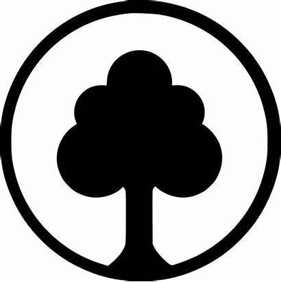 Icon Nature Tree Park Ecology Round Svg