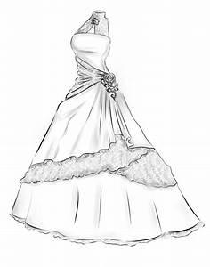 ball gown drawing wedding dress - Google Search   Art ...