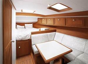 Beautiful wooden cabin deisgn of boat interior inside for Boat cabin interior design