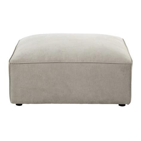 canapé pouf modulable pouf de canapé modulable en tissu beige malo maisons du