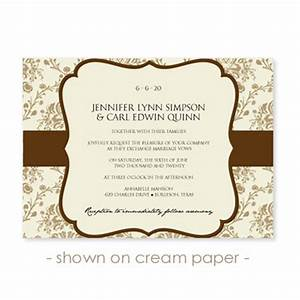 wedding card invitation designs rectangle landscape beige With free wedding invitation templates landscape