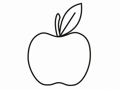 Apple Coloring Outline Pages Printable Colouring Apples