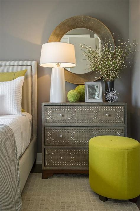 Decorating Ideas Dresser by Gray Raffia Chest With Nailhead Trim Contemporary Bedroom