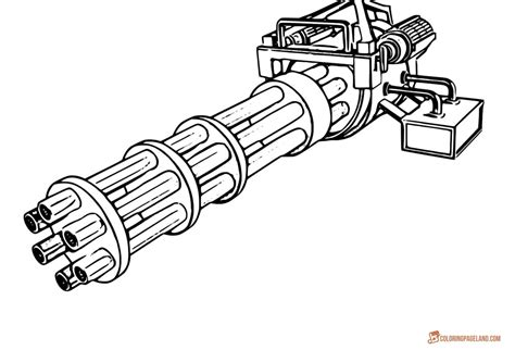 Printable Guns Coloring Pages Free Coloring Page