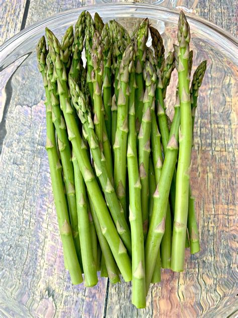 asparagus air fryer roasted easy cook quick bowl long glass fry recipe roast