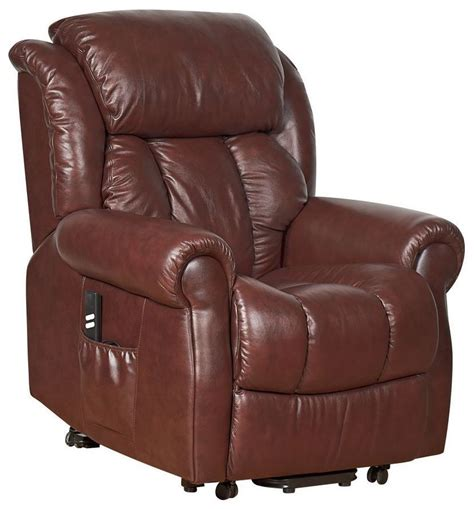 grain leather recliner buy gfa wiltshire dual motor chestnut top grain leather